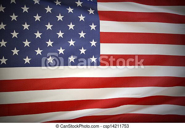 drapeau américain - csp14211753