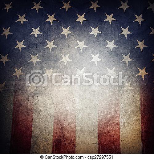 drapeau américain - csp27297551