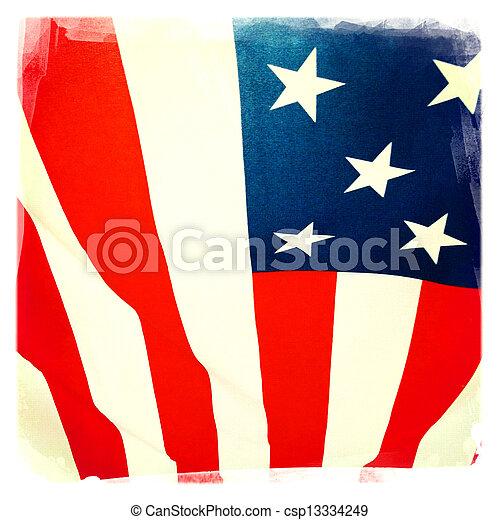 drapeau américain - csp13334249