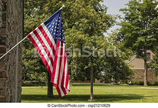 drapeau américain - csp21210629