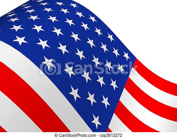 drapeau américain - csp3812272
