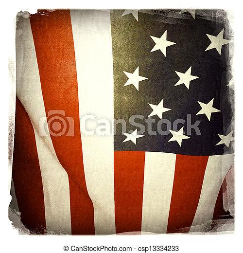 drapeau américain - csp13334233
