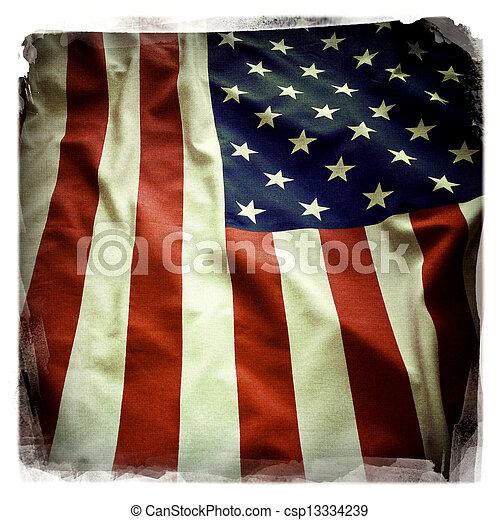 drapeau américain - csp13334239