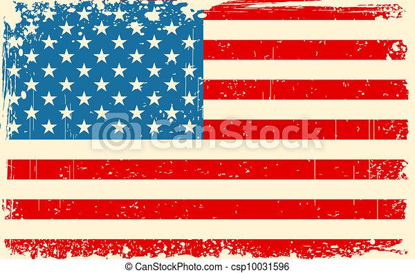 drapeau américain, retro - csp10031596