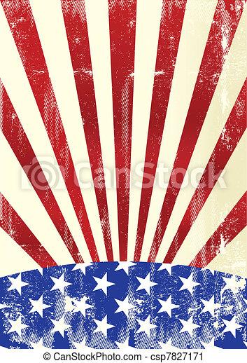 drapeau américain, sale - csp7827171