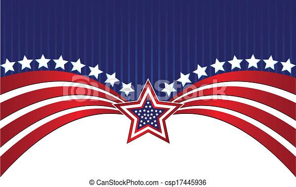 drapeau américain - csp17445936