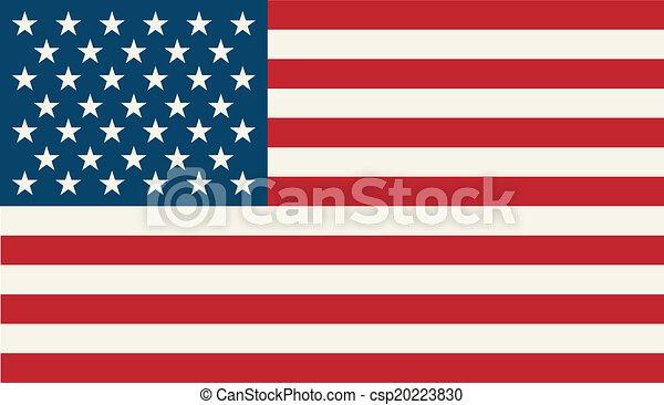 drapeau, américain - csp20223830