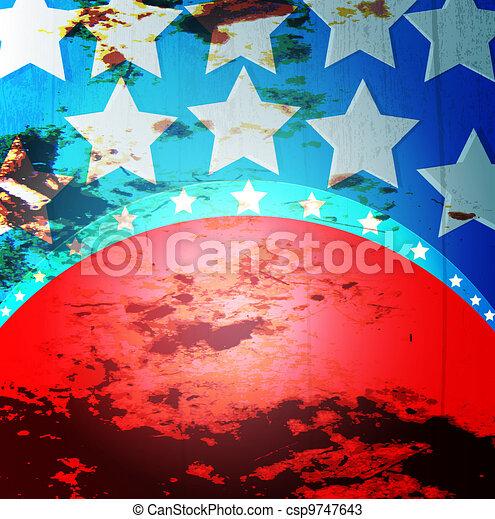 drapeau américain - csp9747643