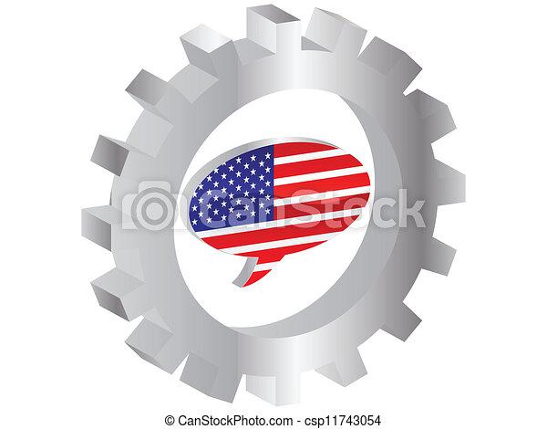 drapeau, amérique - csp11743054