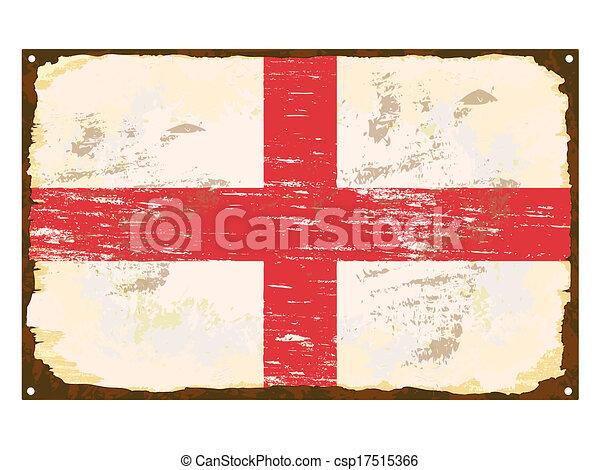 drapeau, anglaise, émail, signe - csp17515366