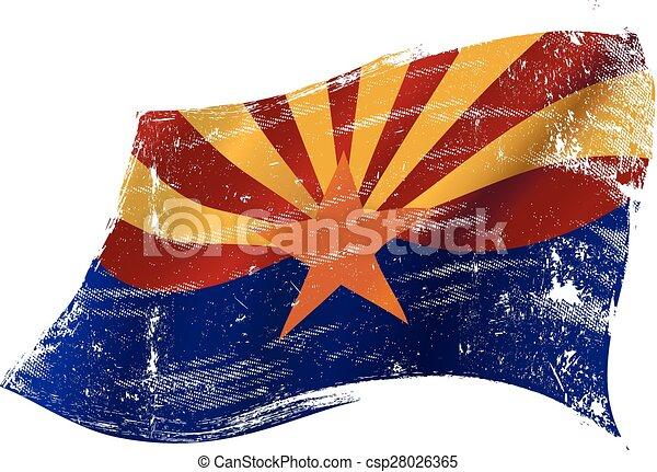 drapeau, arizona, grunge - csp28026365