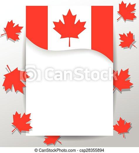 drapeau, canada, éléments, jour, conception, national - csp28355894