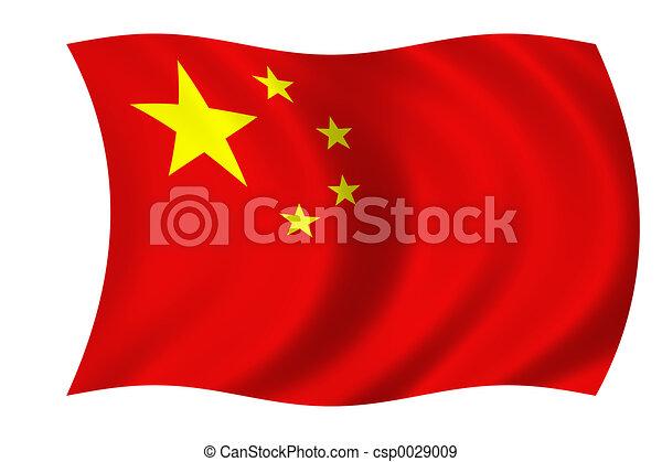 drapeau, chinois - csp0029009