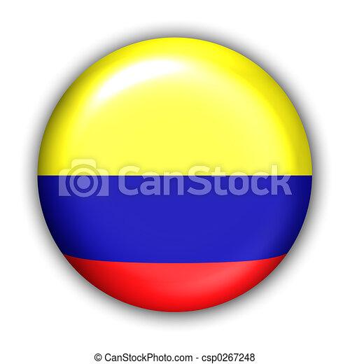 drapeau, colombie - csp0267248