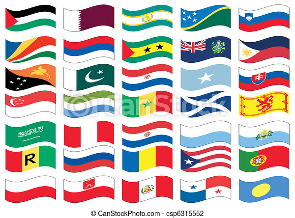drapeau, ensemble - csp6315552