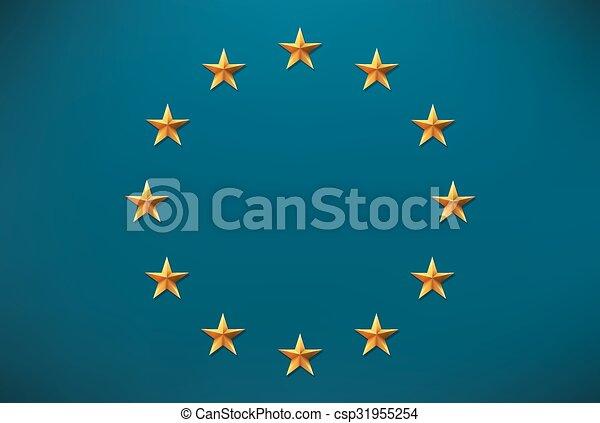 drapeau européen - csp31955254