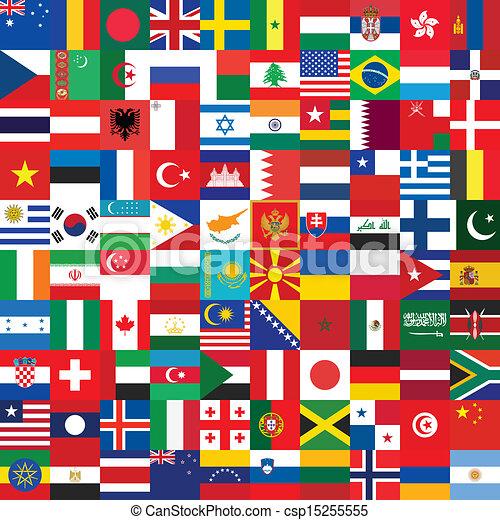 drapeau, fait, fond, icônes - csp15255555