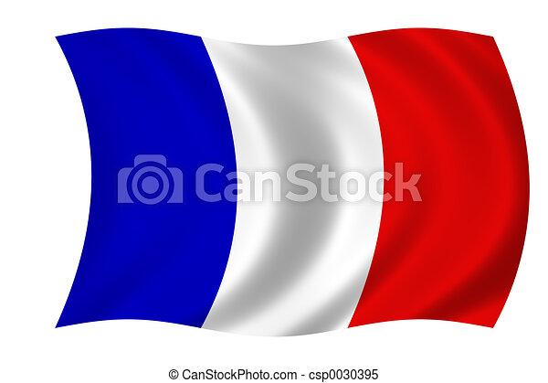 drapeau, francais - csp0030395