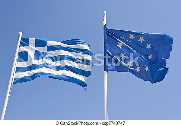 drapeau grec, européen - csp7740747