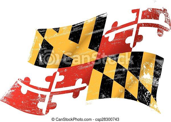 drapeau, grunge, maryland - csp28300743