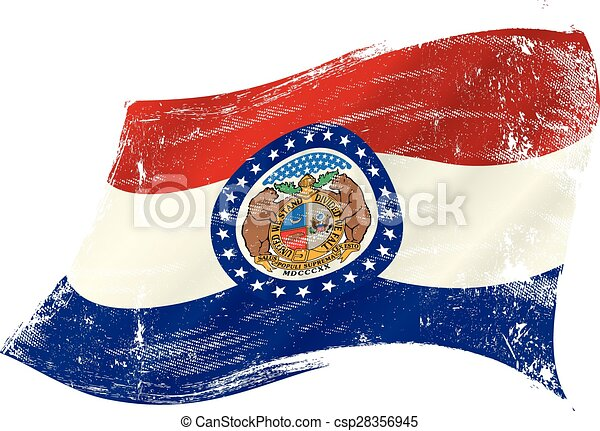 drapeau, grunge, missouri - csp28356945