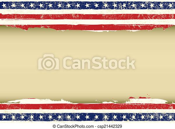 drapeau, horizontal, américain, sale - csp21442329