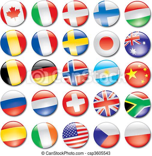 drapeau, icônes - csp3605543