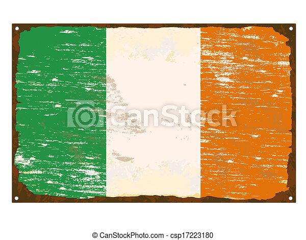 drapeau irlandais, émail, signe - csp17223180