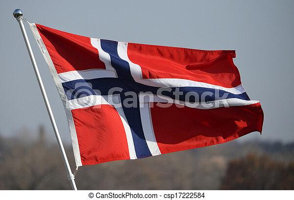 drapeau, norvège - csp17222584