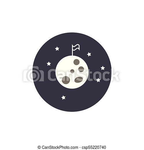 drapeau, nuit, lune - csp55220740