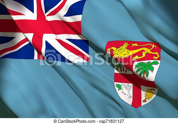 drapeau ondulant, fidji - csp71831127