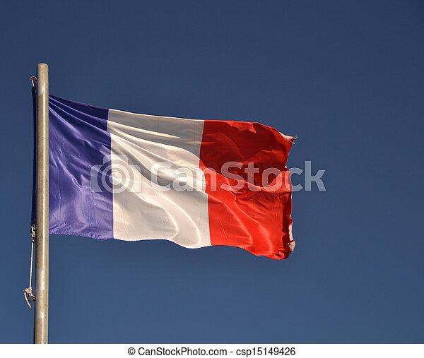 drapeau ondulant, france - csp15149426