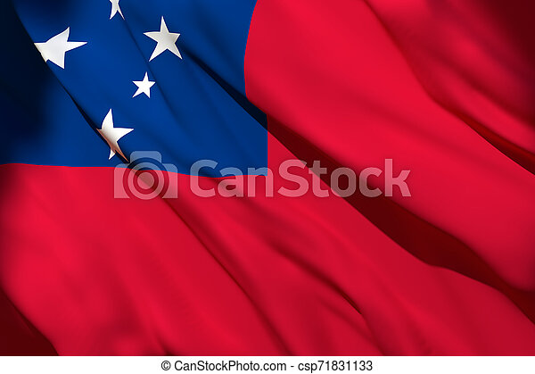 drapeau ondulant, samoa - csp71831133