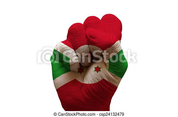 drapeau, poing - csp24132479