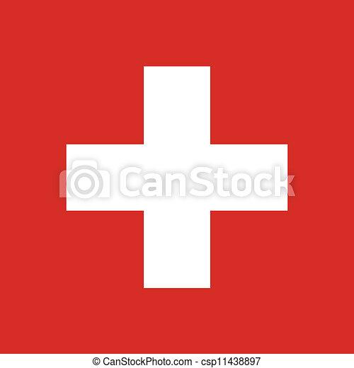 drapeau suisse - csp11438897