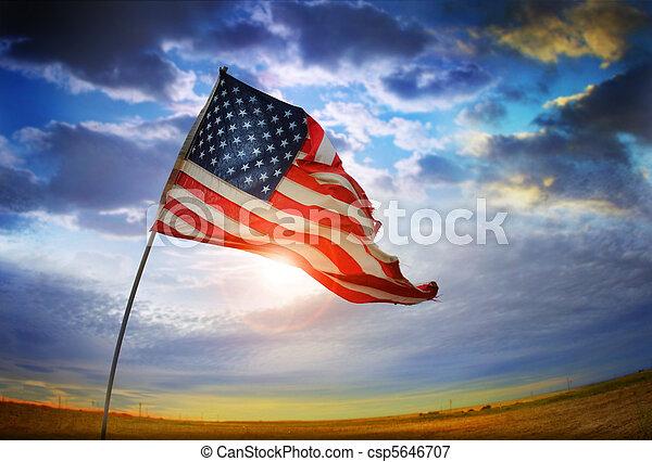 drapeau, vieille gloire - csp5646707