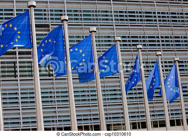 drapeaux, européen - csp10310610