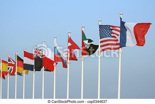 drapeaux - csp0344637