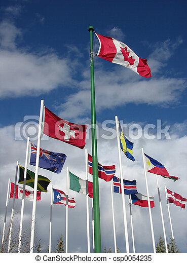 drapeaux - csp0054235