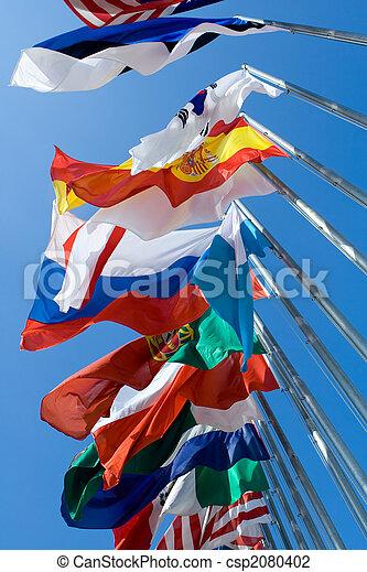 drapeaux internationaux - csp2080402