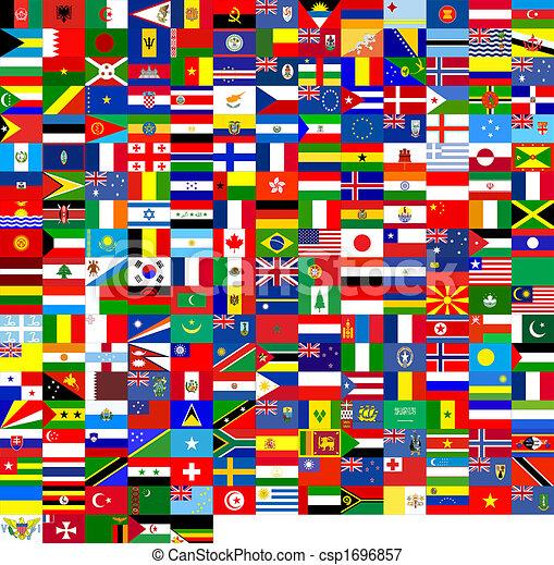 drapeaux, texture - csp1696857