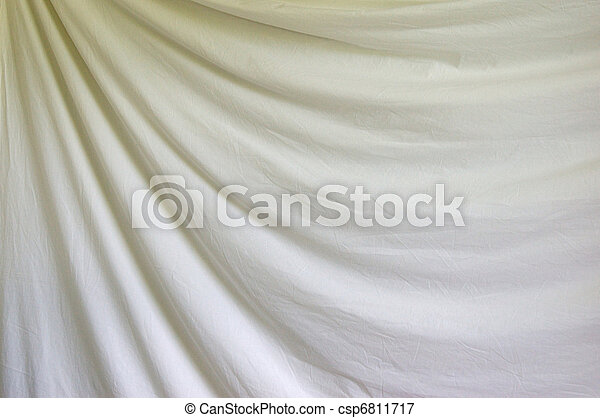 draped white background cloth - csp6811717