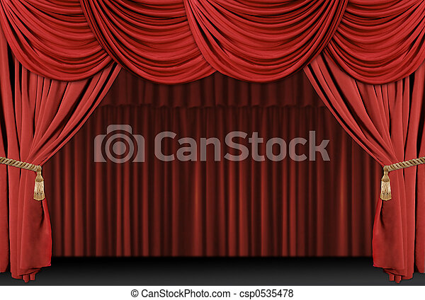 drapować, teatr, tło, rusztowanie - csp0535478