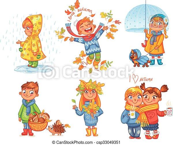 draußen, autumn., liebe, spaziergang - csp33049351