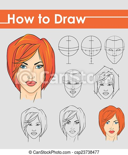 draw tutorial step by step female face