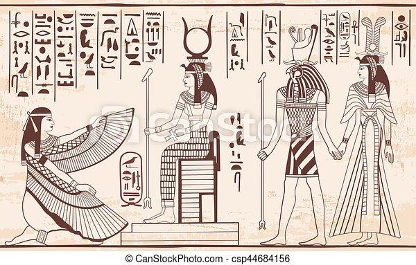 drawing., 国民, エジプト人 - csp44684156