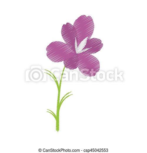 drawing amaryllis flower decoration beautiful - csp45042553