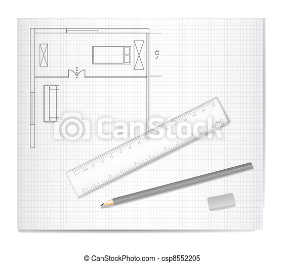 Drawing Architecture Sketch - csp8552205