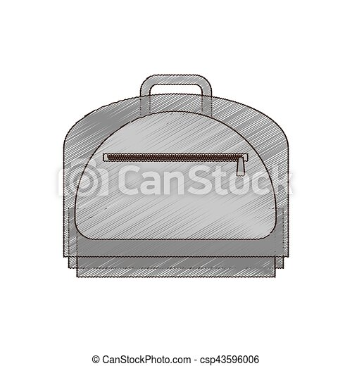 drawing baggage travel business handle