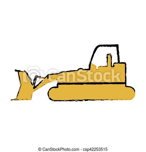 drawing bulldozer truck construction sign vector vector clip art rh canstockphoto com construction vector logo free construction vectorielle physique
